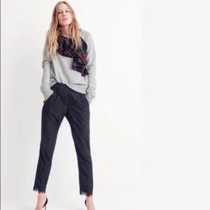 J Crew Plaid Ruffle Tartan Pullover Sweater Size M